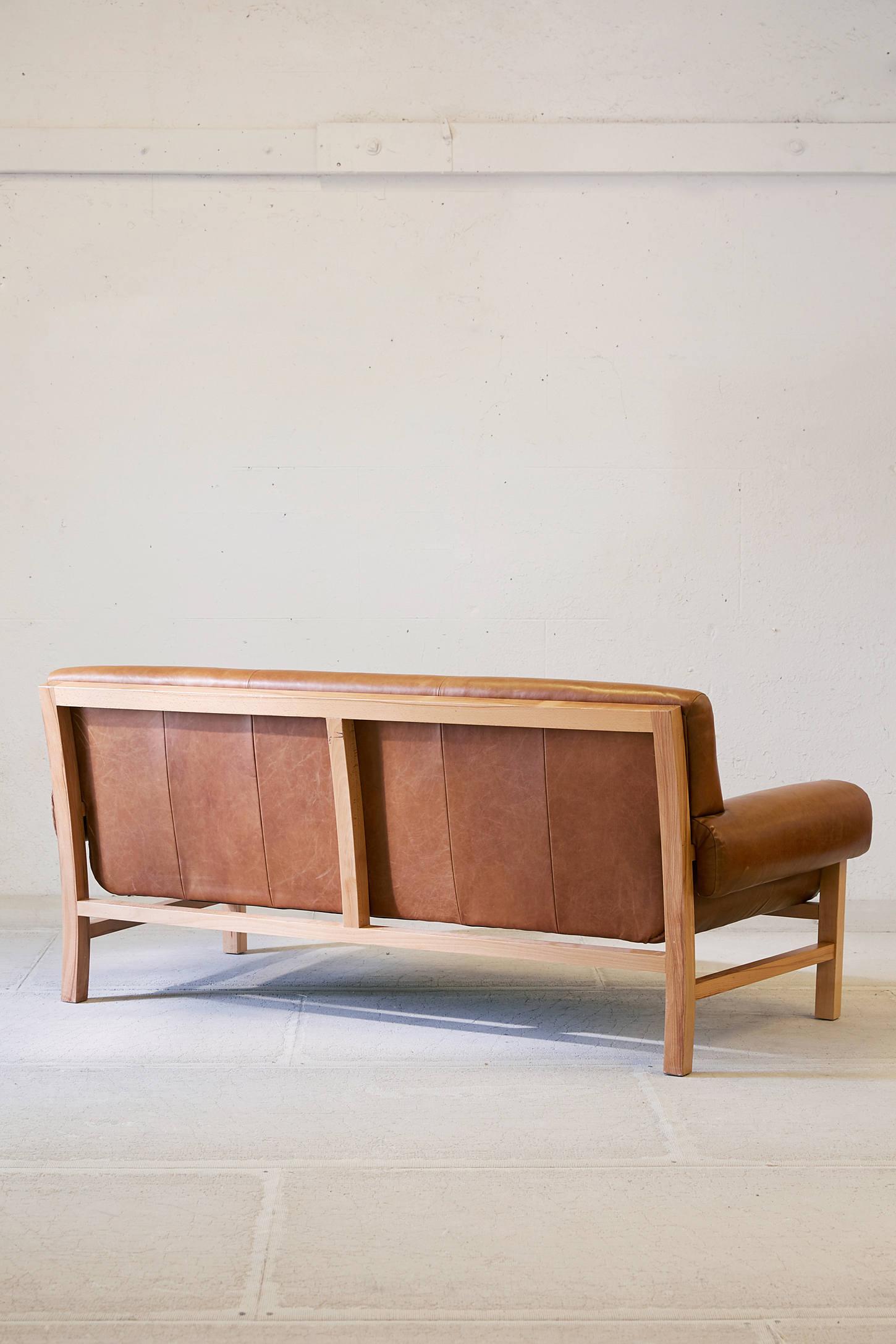 Wood And Leather Sofa hmmi