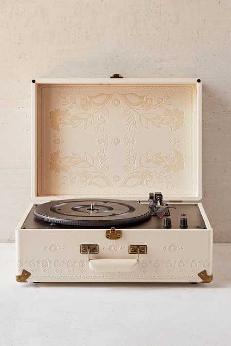 Crosley X UO Floral Embossed AV Room Portable USB Vinyl Record Player