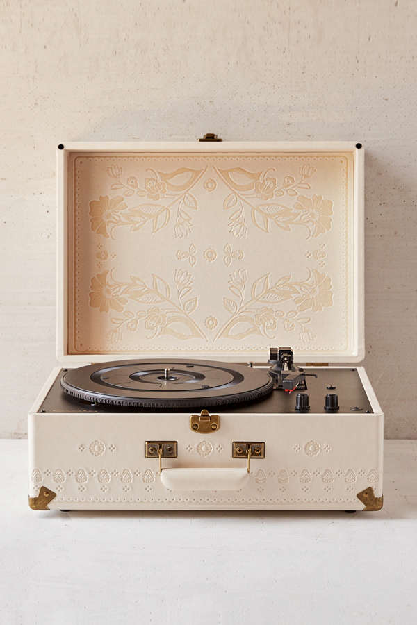 Crosley X Uo Floral Embossed Portable Usb Vinyl Record