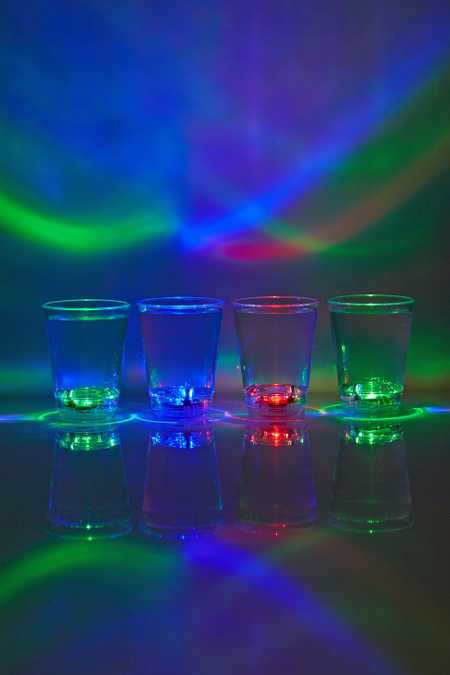 LED Shot Glass - Set Of 4