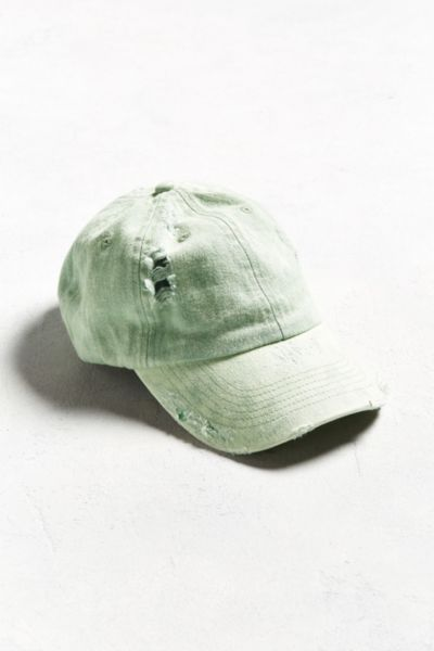 Distressed Dad Hat - Green One Size at Urban Outfitters