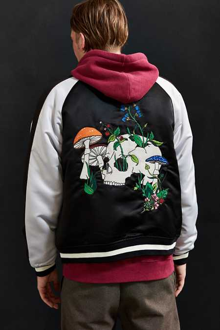 UO Embroidered Skull Souvenir Jacket