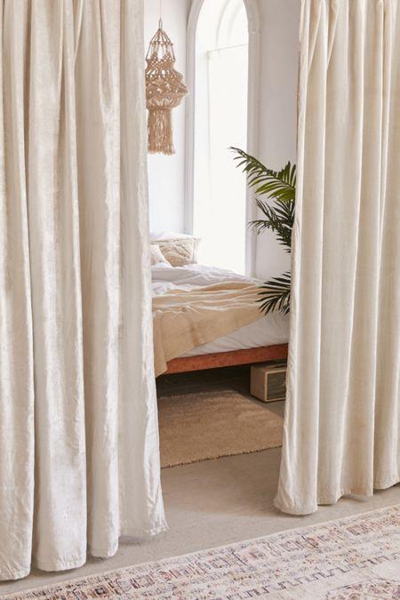Crushed Velvet Window Curtain
