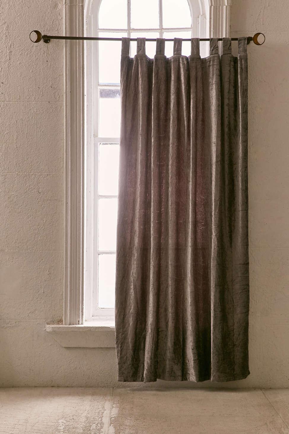 Slide View: 2: Crushed Velvet Window Curtain