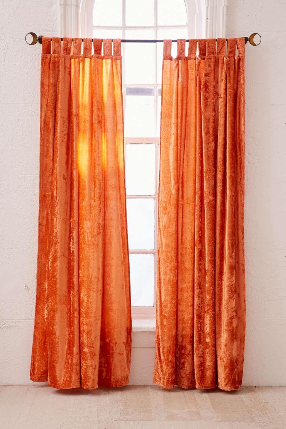 Slide View: 1: Crushed Velvet Window Curtain