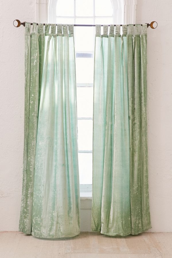 Crushed Velvet Window Curtain Urban Outfitters