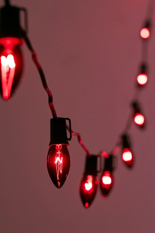 black tinted string lights urban outfitters