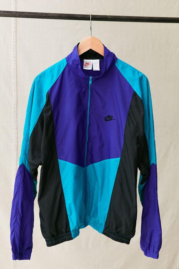 Vintage Nike Black Turquoise Windbreaker Jacket  794eabfe1901