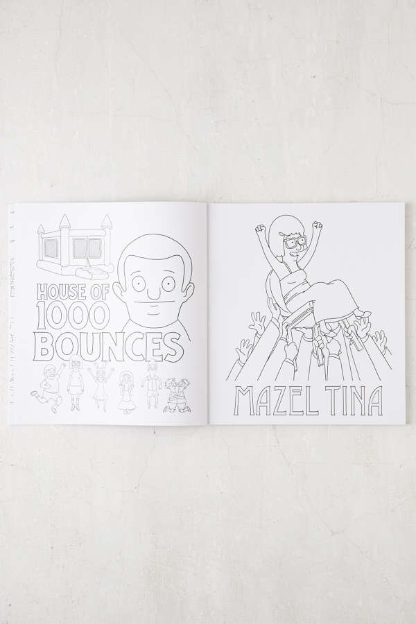 Slide View 4 The Official Bobs Burgers Coloring Book By Loren Bouchard