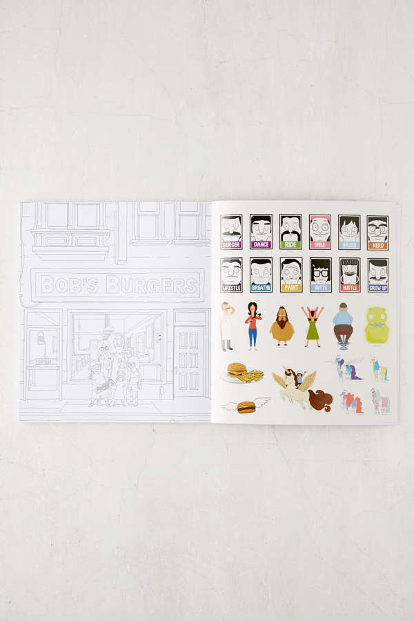 Slide View 6 The Official Bobs Burgers Coloring Book By Loren Bouchard