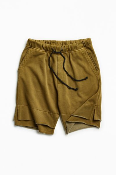 UO Blake Washed Double Layer Short - Olive XS at Urban Outfitters