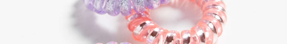 Thumbnail View 1: Telephone Cord Hair Tie Set