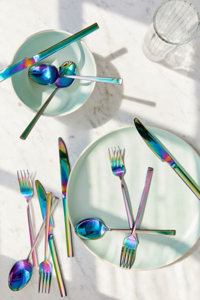 & 12-Piece Electroplated Flatware Set | Urban Outfitters