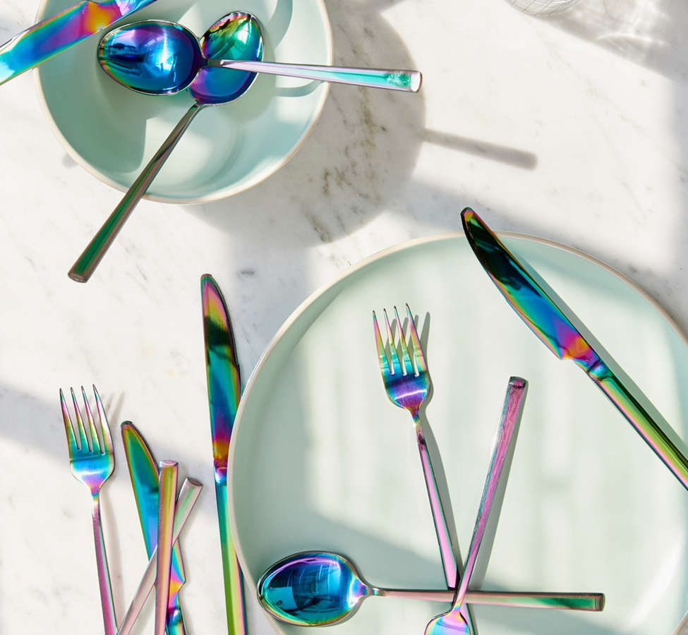 Slide View: 1: 12-Piece Electroplated Flatware Set