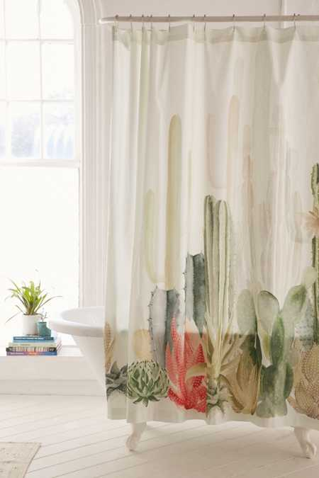 Cactus Landscape Shower CurtainShower Curtains   Bathroom Curtains   Urban Outfitters. Extra Large Shower Curtain Hooks. Home Design Ideas