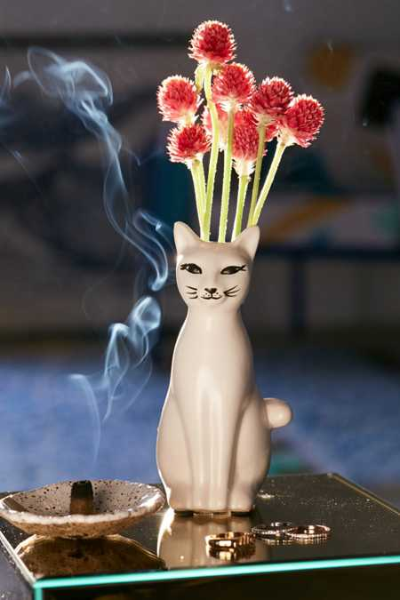 Kitty Bud Vase