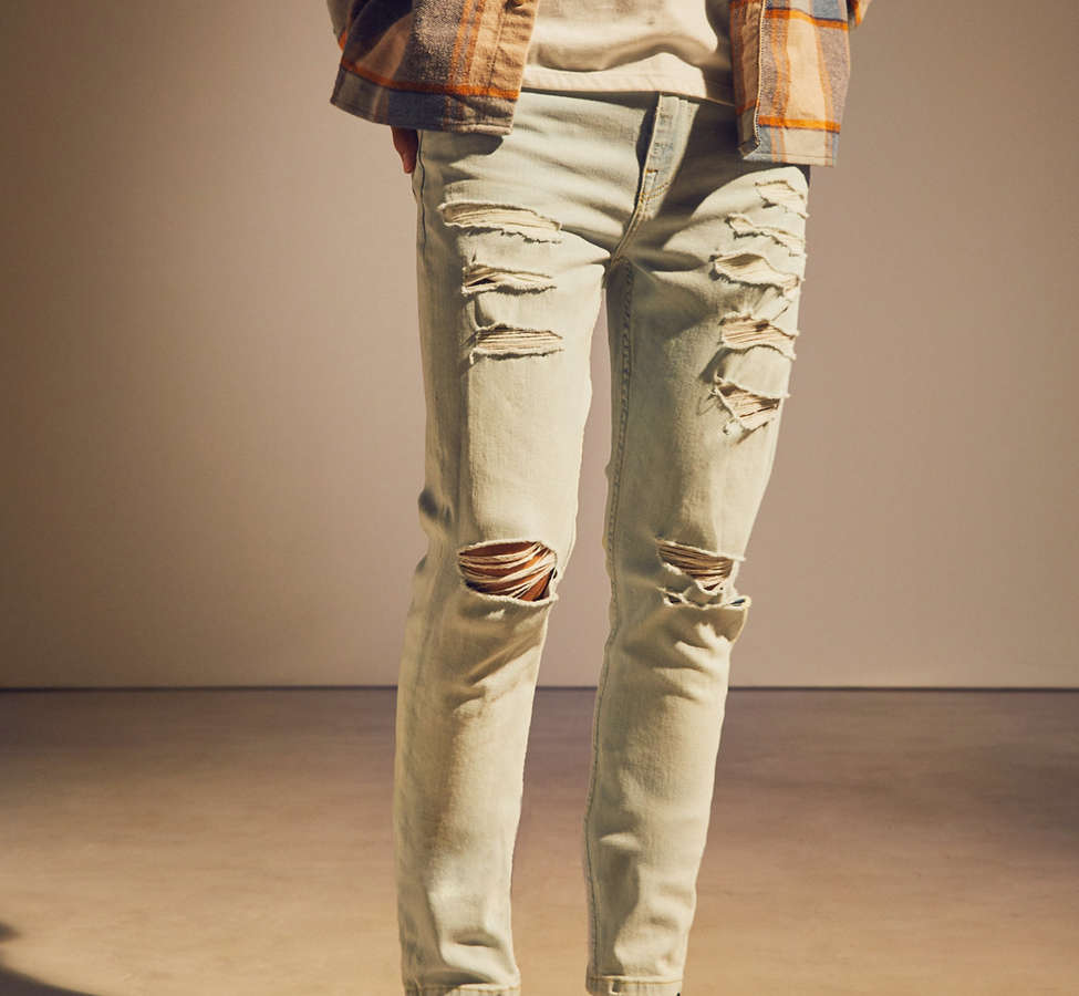 Slide View: 2: BDG Frozen Wash Destructed Skinny Jean