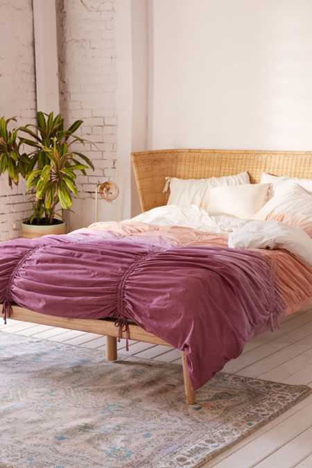 Dip-Dye Cinched Duvet Cover