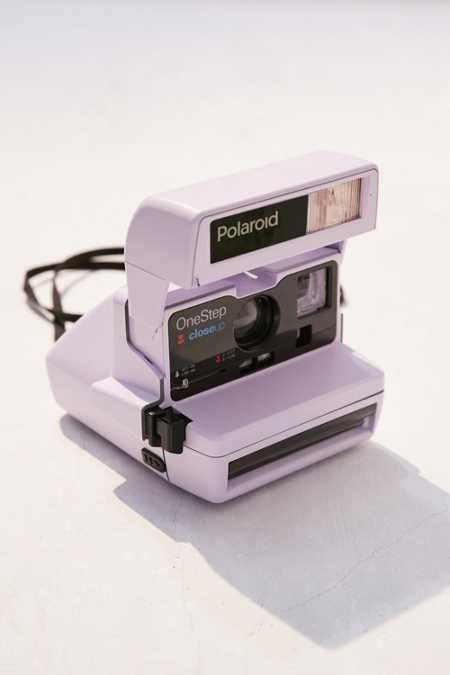 Impossible X UO Refurbished Lavender Close-Up Polaroid 600 Instant Camera