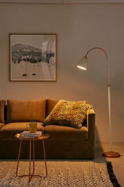 Celine Floor Lamp - White One Size at Urban Outfitters