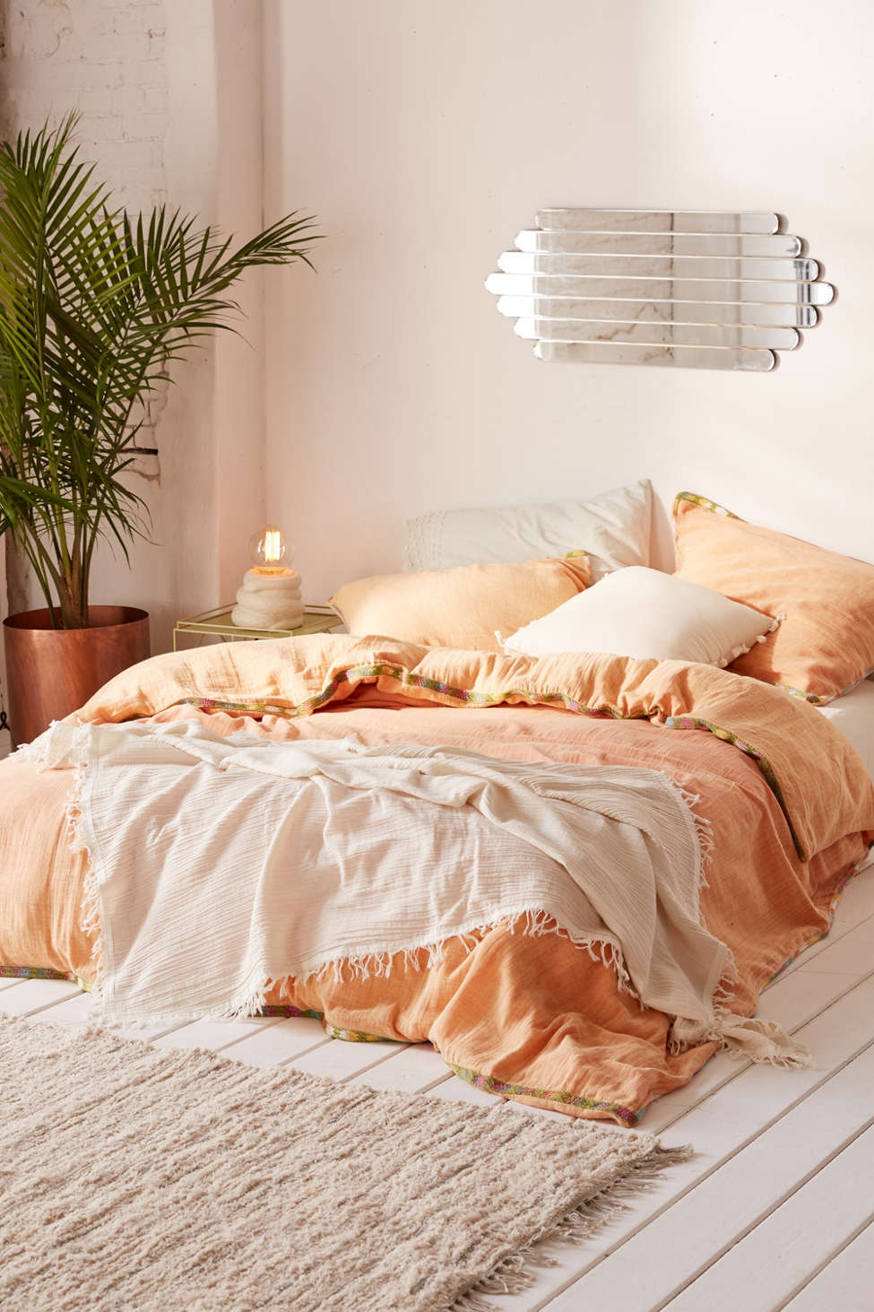 Slide View: 1: Iktan Trim Duvet Cover