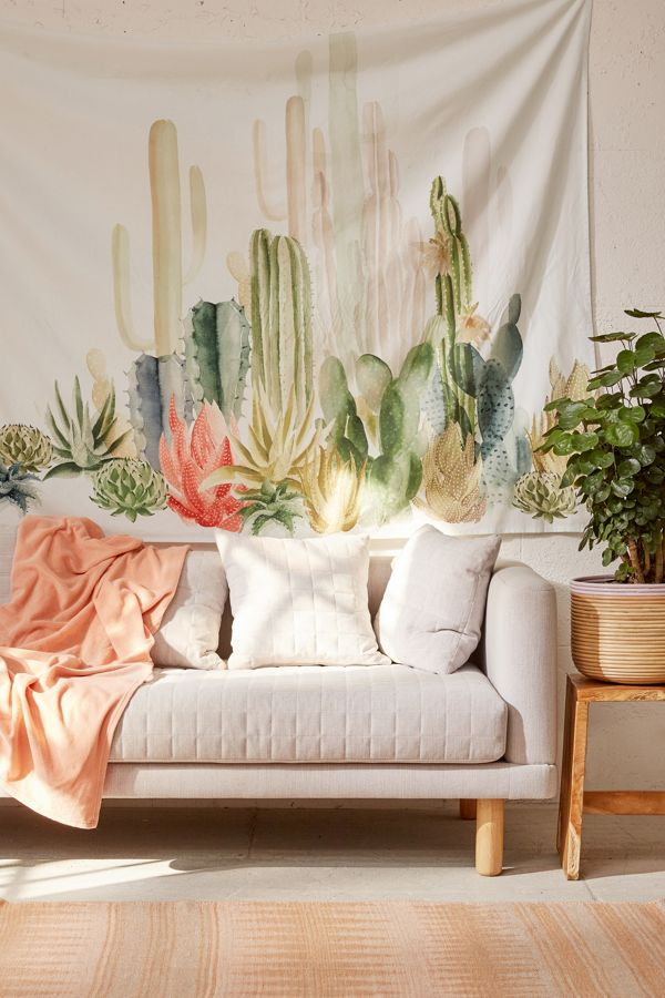 Cactus Landscape Tapestry Urban Outfitters