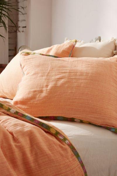 Iktan Trim Sham Set - Medium Orange One Size at Urban Outfitters