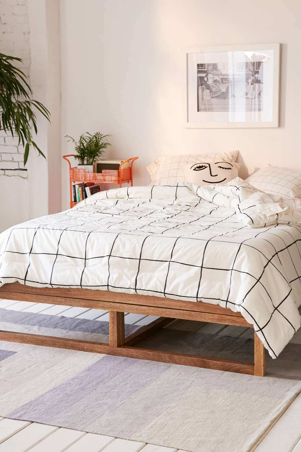 Slide View: 2: Wonky Grid Comforter Snooze Set