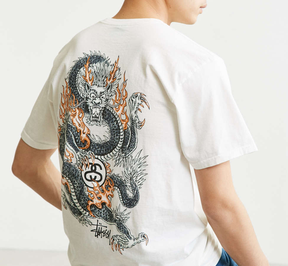 Slide View: 6: Stussy Fire Dragon Tee
