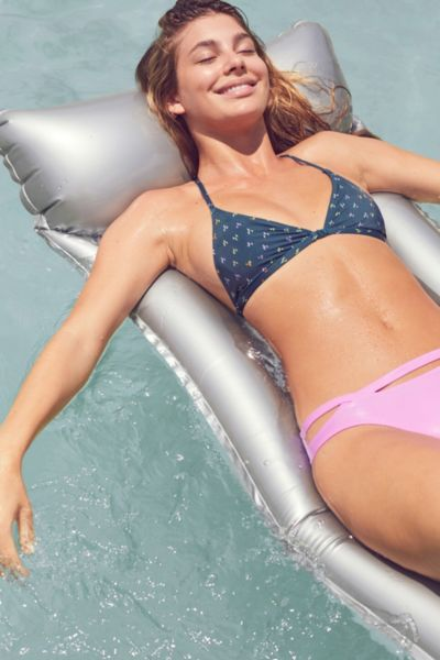 Out From Under Printed Triangle Racerback Bikini Top - Sapphire S at Urban Outfitters