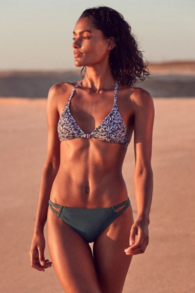 Out From Under Printed Triangle Racerback Bikini Top - Violet S at Urban Outfitters