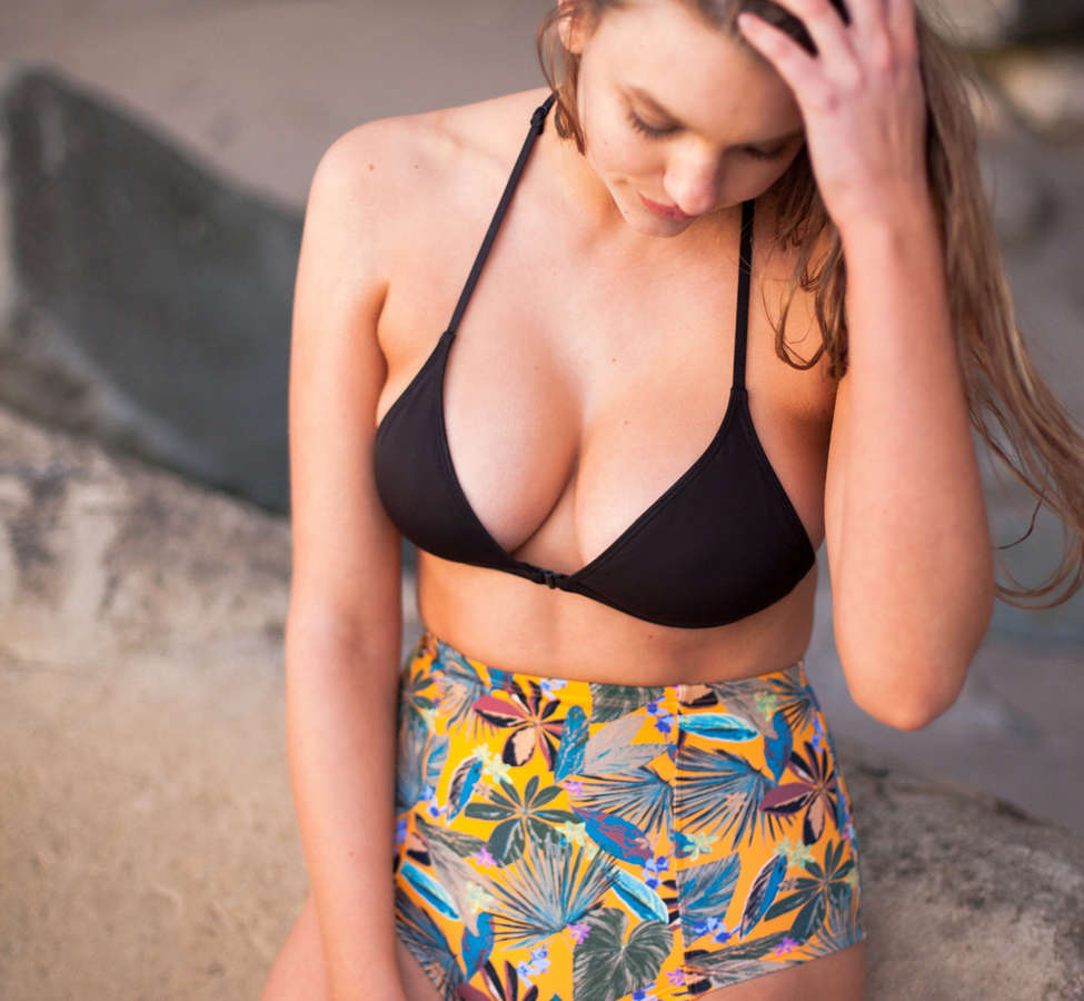 Slide View: 4: Out From Under Black Triangle Racerback Bikini Top