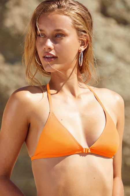 Slide View: 1: Out From Under Triangle Racerback Bikini Top