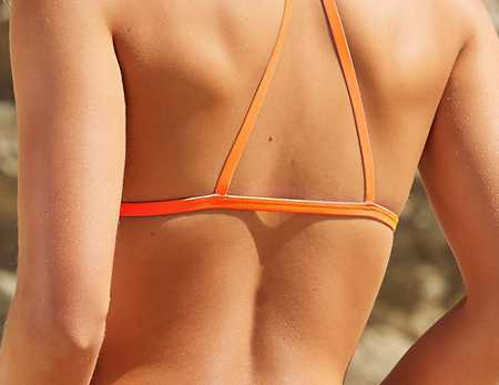 Slide View: 2: Out From Under Triangle Racerback Bikini Top