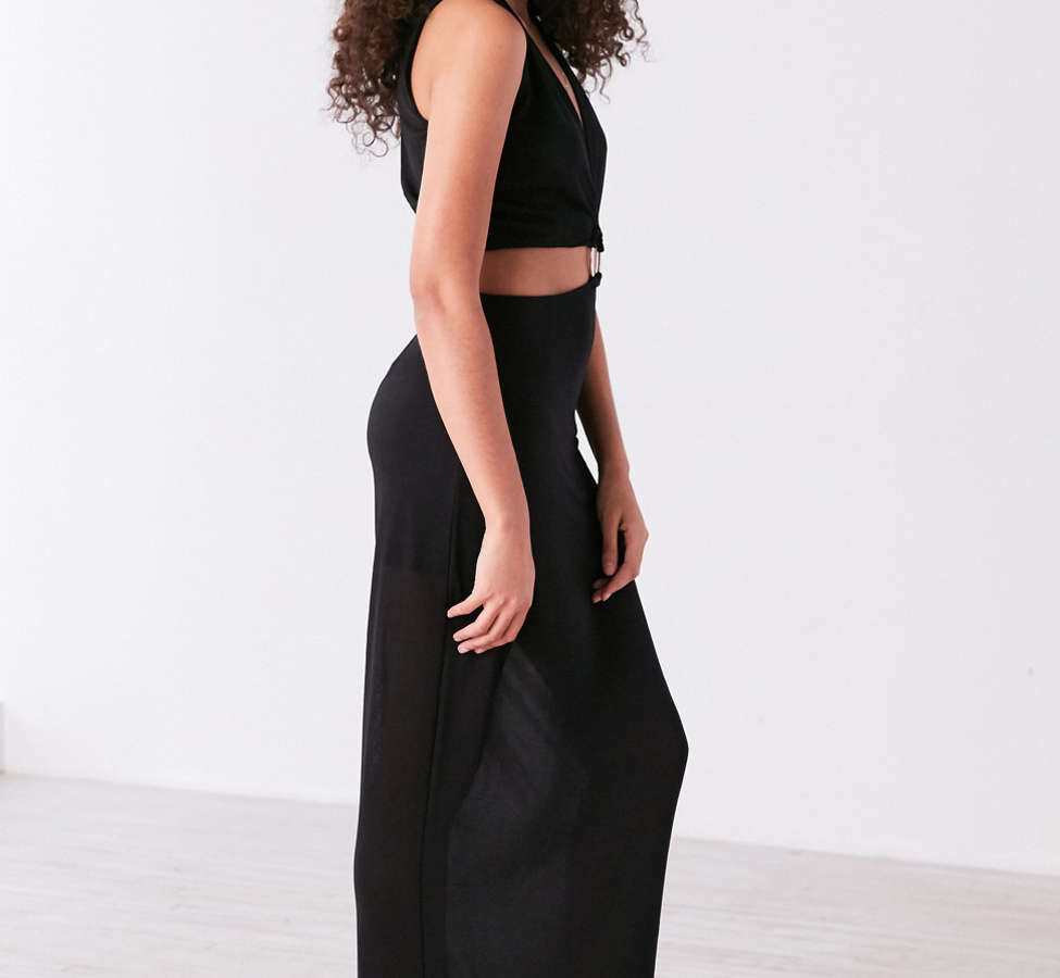 Slide View: 6: Robe maxi à découpe plongeante Maxwell Finders Keepers