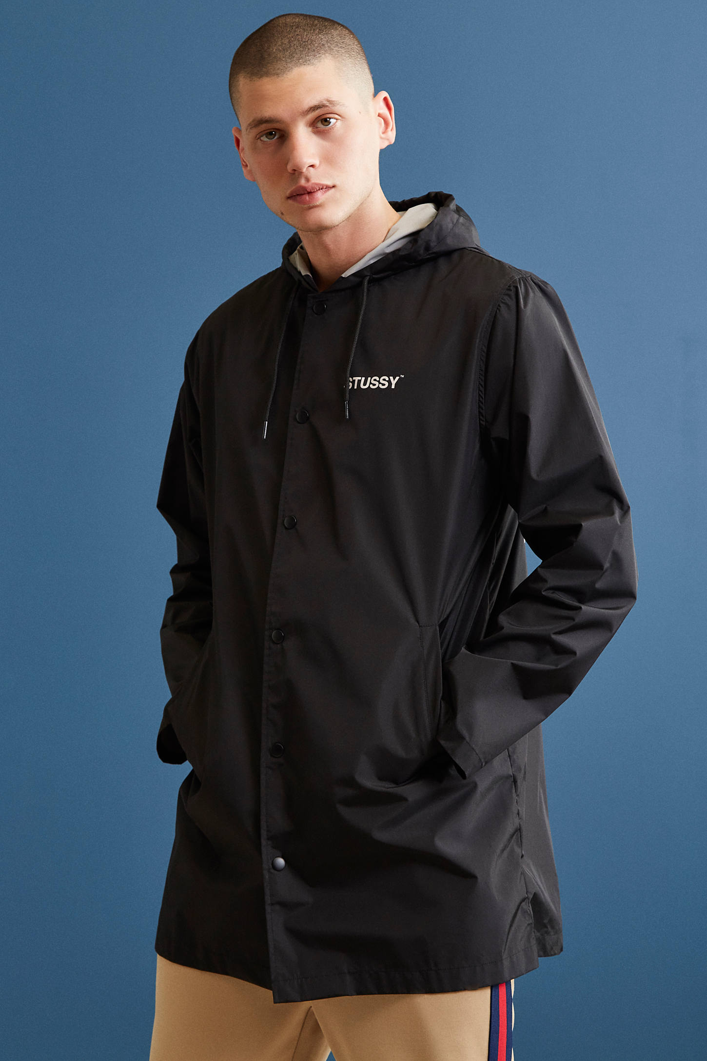 Stussy Long Hooded Parka Jacket | Urban Outfitters