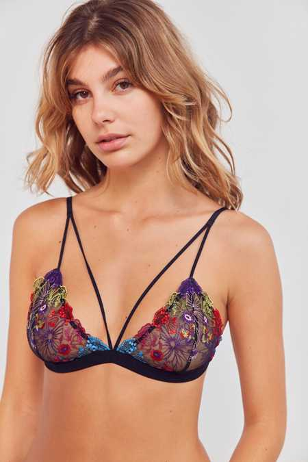 Out From Under Cameron Floral Triangle Bra