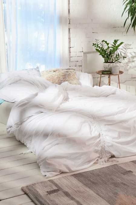 Slide View: 1: Cinched Duvet Cover