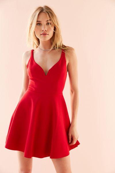 Kimchi Blue Heart Of The Ocean Sweetheart Mini Dress