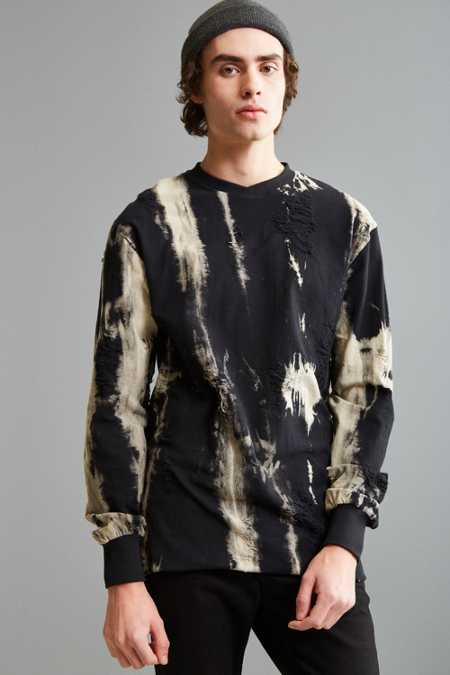 Publish Killien Bleached Crew Neck Sweatshirt