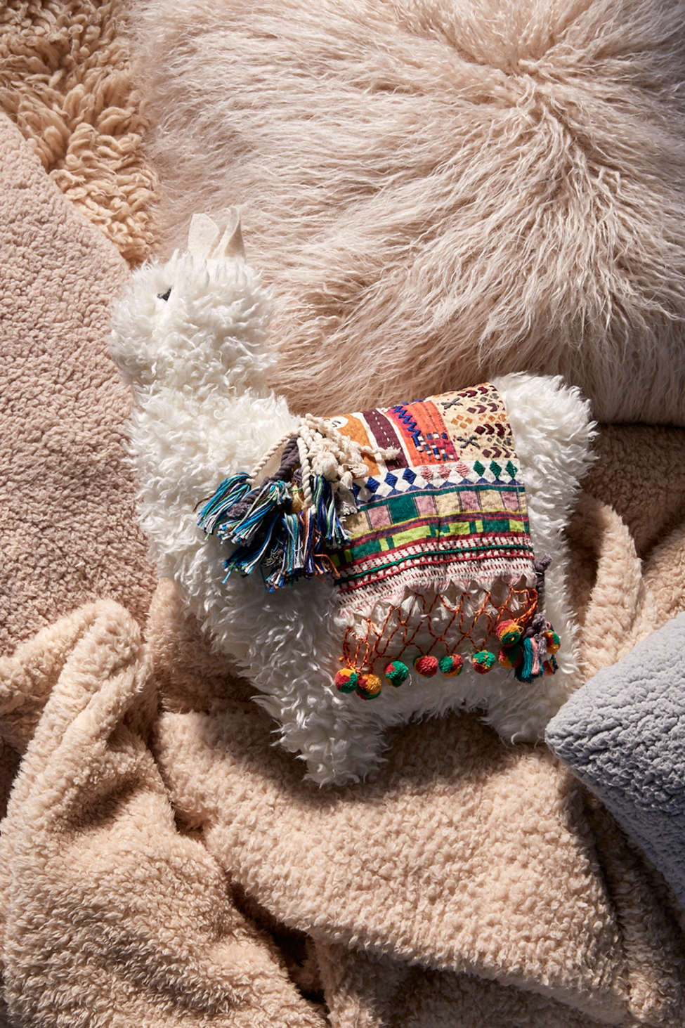 Furry Llama Pillow Urban Outfitters Canada