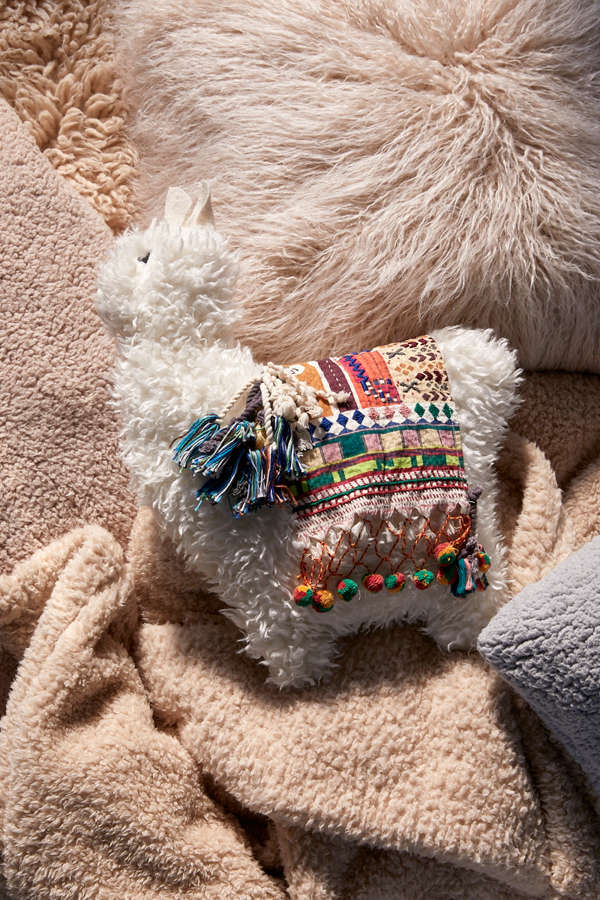 Furry Llama Pillow Urban Outfitters