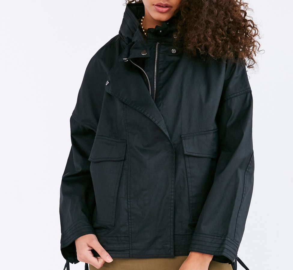 Slide View: 6: Silence + Noise Coated A-Line Utility Jacket