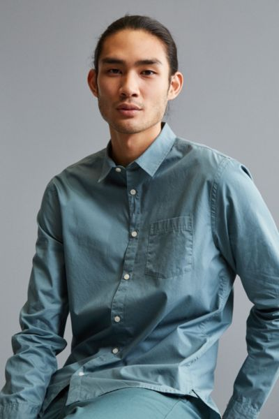 UO Stevens Poplin Button-Down Shirt