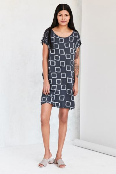 Della Batik Print Mini Sheath Dress