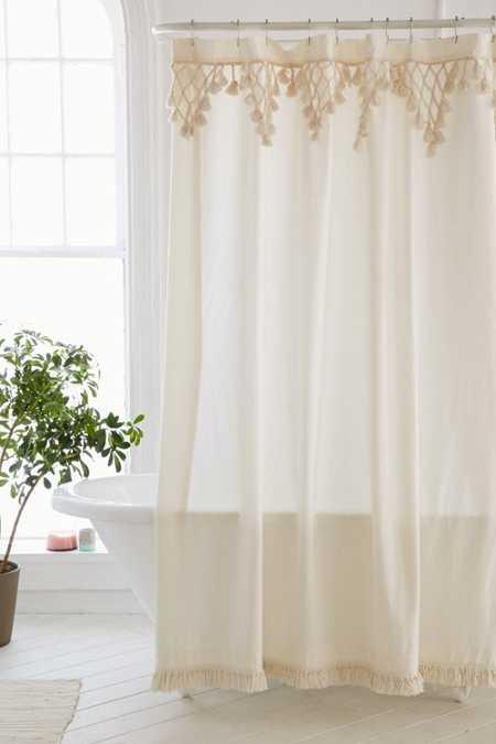 Topanga fringe shower curtain