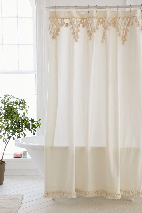 Slide View 1 Topanga Fringe Shower Curtain