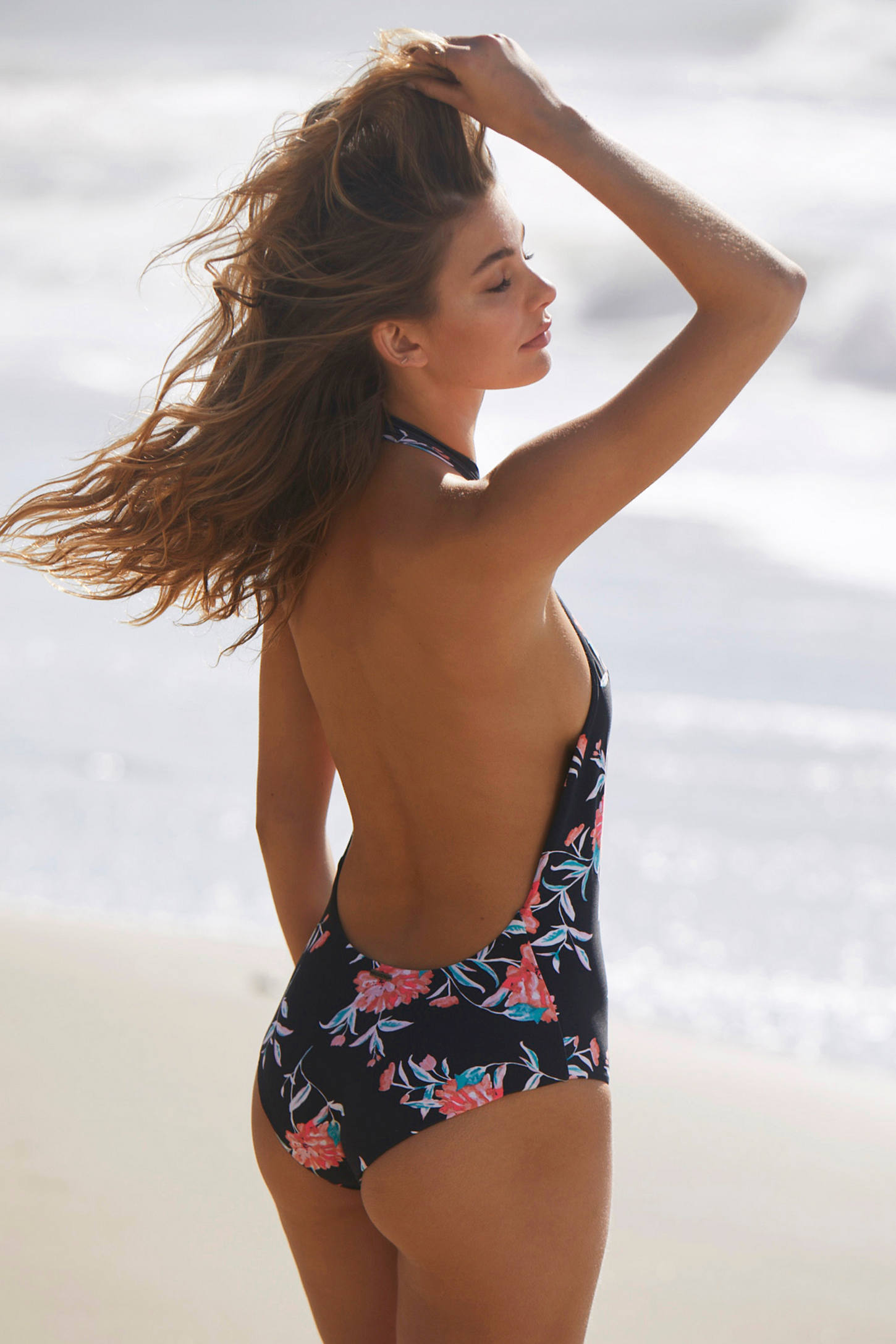 Slide View: 2: Billabong X UO Wild Rose One-Piece Swimsuit