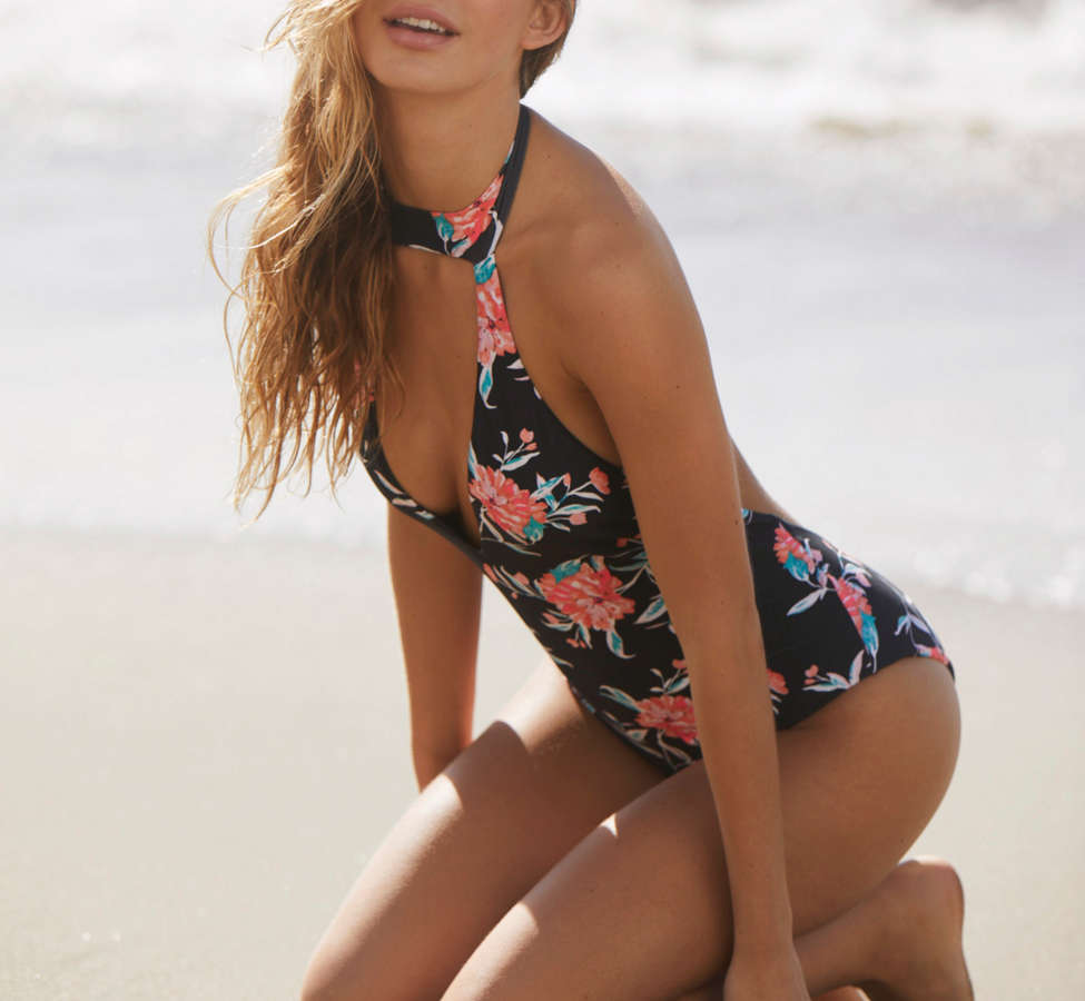 Slide View: 3: Billabong X UO Wild Rose One-Piece Swimsuit