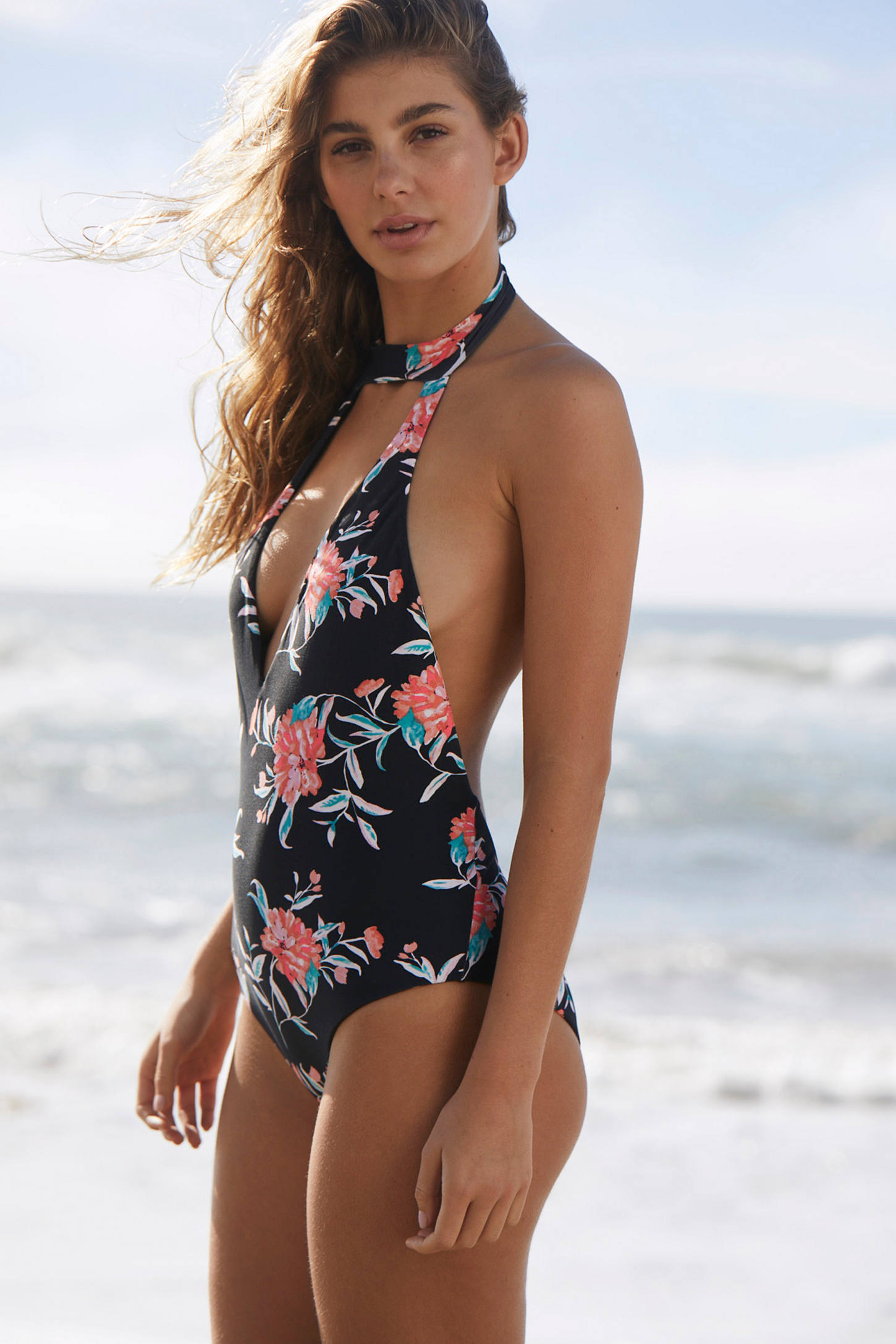 Slide View: 5: Billabong X UO Wild Rose One-Piece Swimsuit